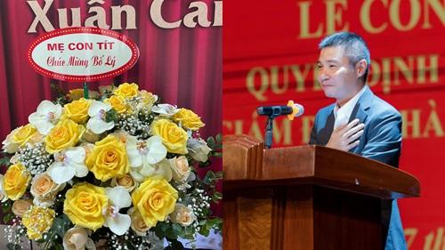 Tặng hoa chúc mừng NSND Công Lý lên chức, MC Thảo Vân cho thấy vẫn giữ mối quan hệ tốt đẹp với chồng cũ
