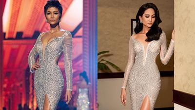 Mặc lại chiếc váy từ 1 năm trước, H'Hen Niê vẫn tạo nên sự khác biệt nhờ thay đổi kiểu tóc