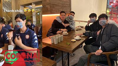 Cầu thủ Việt Nam kêu gọi đeo khẩu trang phòng Corona, Công Phượng cẩn thận đeo cả lúc ăn cơm