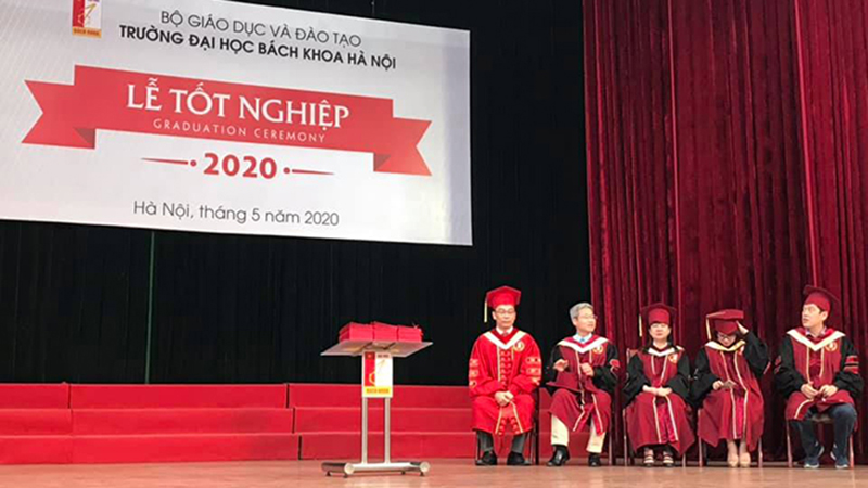 Đại học Bách khoa Hà Nội tổ chức lễ tốt nghiệp cho sinh viên ngay sau khi kết thúc nghỉ dịch
