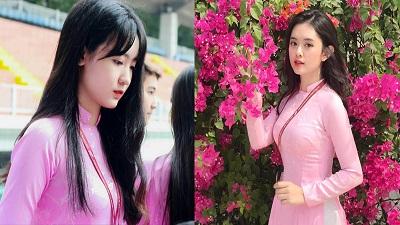 Khó rời mắt trước những thiếu nữ mặc áo dài hồng - 'đặc sản' của Đại học Tôn Đức Thắng