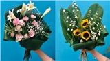 Dùng lá dong gói hoa - Bảo vệ môi trường từ những việc nhỏ nhất