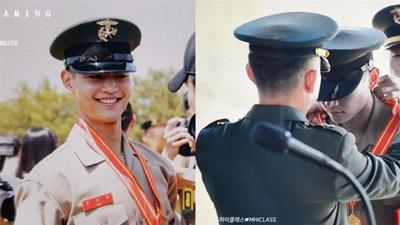 Khoảnh khắc Minho (SHINee) nhận bằng khen tại đơn vị hải quân mà đẹp ngỡ Hậu duệ mặt trời phiên bản đời thực