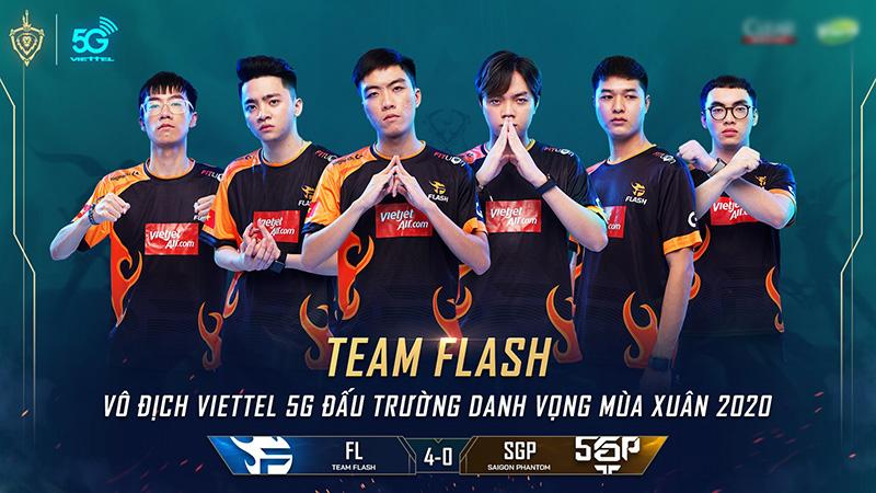 Team Flash thiết lập kỷ lục chưa đội tuyển Esports nào đạt được tại Đấu Trường Danh Vọng mùa xuân 2020