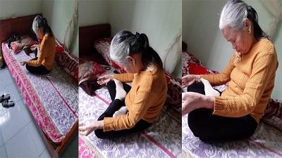 Mới học thiền nhưng lại ngủ quên, bà nội U80 bị cháu đích tôn chụp hình 'kể xấu' với dân mạng