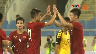 Phút bù giờ hiệp 1, Đinh Thanh Bình ghi bàn thắng đẹp bắt cho U23 Việt Nam