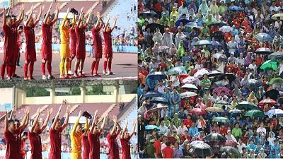 Đánh bại U23 Myanmar, Dũng 'súp lơ' đăng ảnh cảm ơn người hâm mộ đội mưa đội gió cổ vũ đội tuyển