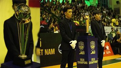 Cận cảnh chiếc cúp danh giá cùng giải thưởng dành cho nhà vô địch VBA 2019