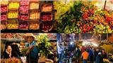 Chợ hoa Quảng An ngày giáp Tết: Muôn loài khoe sắc, tất bật thâu đêm