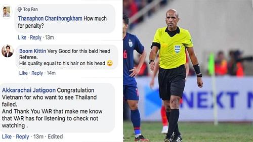 CĐV Thái Lan miệt thị trọng tài người Oman sau khi U23 Thái Lan phải dừng bước: 'Trình độ của ông ta nhiều như số tóc trên đầu'