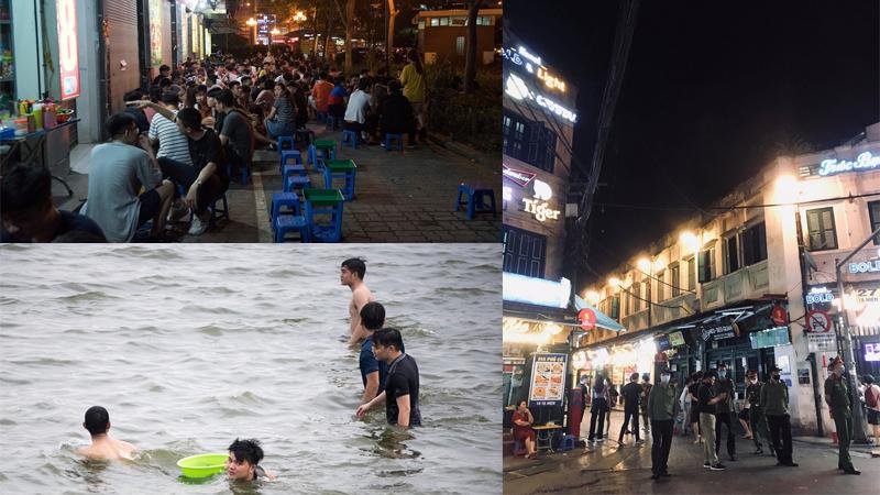 Hà Nội: Trà chanh, bia hơi vỉa hè kín đặc người, riêng phố nhậu Tạ Hiện... vẫn hạn chế khách