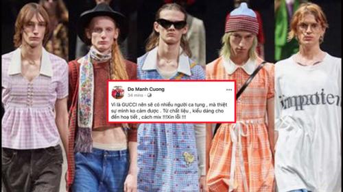 NTK Đỗ Mạnh Cường chê bai Gucci vì đưa váy, đầm, áo croptop vào BST mới dành cho nam