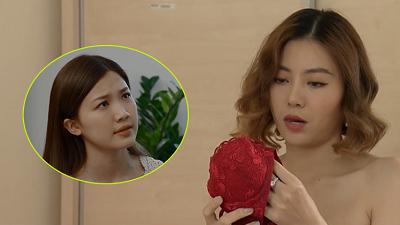 Trà 'Hoa hồng trên ngực trái' cùng chiếc áo ngực màu đỏ 'huyền thoại' bất ngờ làm cameo trong 'Những ngày không quên' tập 23