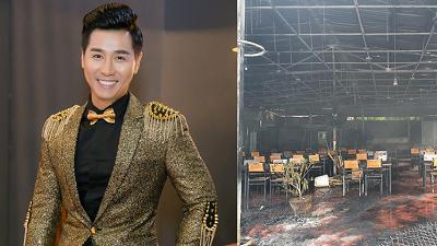 Nhà hàng của MC Nguyên Khang cháy rụi trong 'biển lửa' sau vài ngày hoạt động trở lại hậu dịch Covid-19