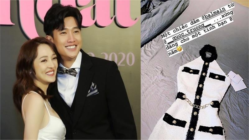 Khoe được Quốc Trường tặng váy hàng hiệu, Bảo Anh ngầm xác nhận mối quan hệ của cả hai
