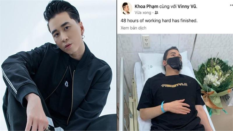 Làm việc xuyên 48 giờ dẫn đến kiệt sức, Karik phải nhập viện khiến ai cũng lo lắng