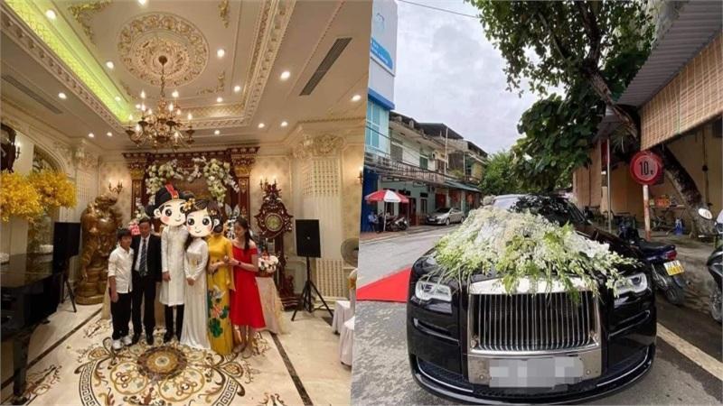 Choáng với 'siêu đám cưới' ở Tuyên Quang: Lâu đài dát vàng, đón dâu bằng Rolls Royce tứ quý 8888