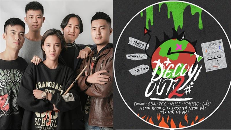 DecoyOut#2 - 'bữa lẩu' tinh thần đủ rock và indie từ Decoy Band hứa hẹn khiến người hâm mộ 'cháy hết mình'
