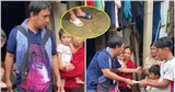 MC Quyền Linh đi viện trợ miền Trung: Đi dép 'cọc cạch' vì nước lũ cuốn trôi cả dép