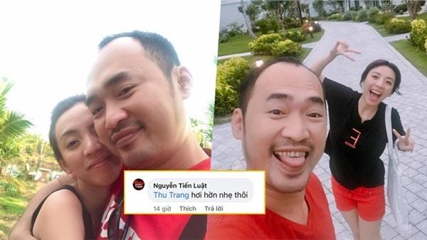 Vợ chồng Thu Trang - Tiến Luật xưng 'tôi-em' tình tứ, 'kiến bu đầy' status vì quá ngọt ngào