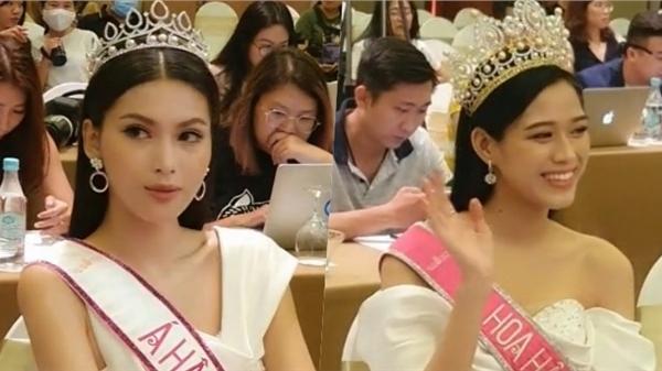 Biểu cảm đối lập của Á hậu 2 Ngọc Thảo và Hoa hậu Đỗ Thị Hà khiến dân tình 'cười ngả nghiêng'
