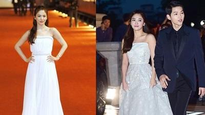Song Hye Kyo xứng danh là nữ minh tinh 'chăm' diện... áo cưới đi thảm đỏ nhất!