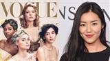 Trái ngược với Angela Baby, Liu Wen cực nổi bật trên tạp chí Vogue Mỹ bên cạnh loạt chân dài hàng đầu thế giới