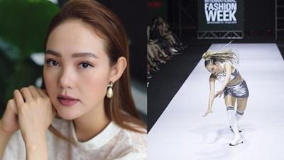 Minh Hằng lên tiếng về cú 'tạo nét' sáng nhất đêm diễnVietnam International Fashion Week 2019