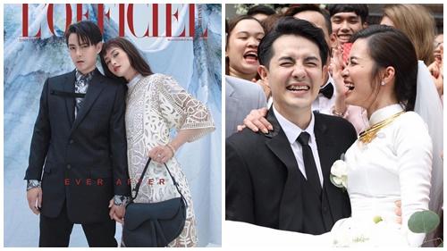 Đúng người đúng thời điểm, tạp chí L'OFFICIEL tung bộ ảnh tạp chí hưởng ứng'siêu đám cưới' của Đông Nhi - Ông Cao Thắng