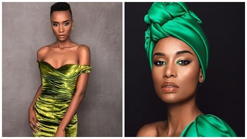 Cận cảnh nhan sắc được ví như 'ngọc trai đen' của Tân Hoa hậu Hoàn vũ 2019 đến từ Nam Phi
