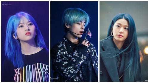 Hưởng ứng màu của năm như dàn sao Kpop, 'rủ nhau' nhuộm tóc xanh dương cực bắt mắt