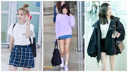 4 công thức mix đồ tránh nóng rút ra từ style sân bay của các nữ Idols bạn gái nên để mắt
