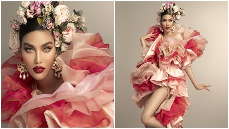 'Mẹ bỉm sữa' Lan Khuê tái xuất ấn tượng với trang phục 'đóa hoa rực lửa'