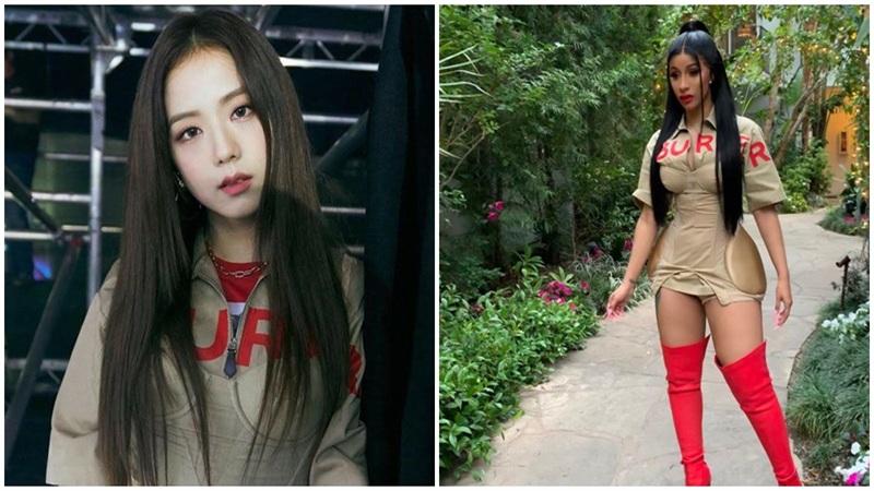 Jisoo 'chạm trán' Cardi B: Thành viên Black Pink đẹp dịu dàng, nữ rapper hơi 'phồn thực'