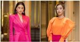 Dàn hậu diện đồ color block xuất hiện sặc sỡ tại họp báo Hoa hậu Việt Nam
