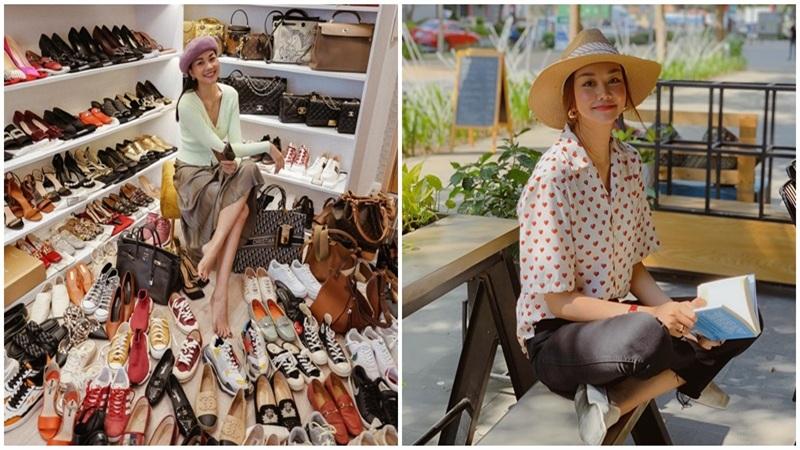Thanh Hằng khiến netizen 'sốc nặng' với tủ giày 'siêu to khổng lồ'