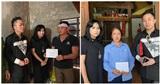 Ca sĩ Tùng Dương, Thanh Lam trực tiếp thăm hỏi, trao quà cho bà con miền Trung trong đợt lũ lịch sử