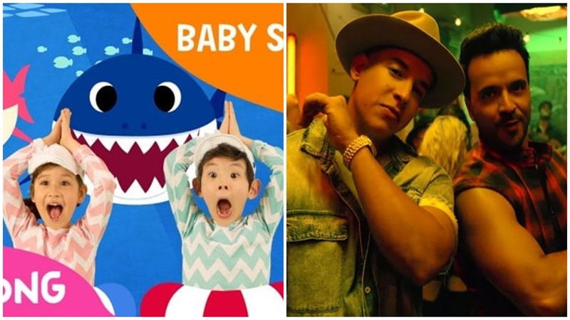 'Vũ điệu cá mập' Baby Shark'lăm le' trở thành MV nhiều view nhất thế giới, cách Quán quân 'Despacito' chỉ 16 triệu lượt xem