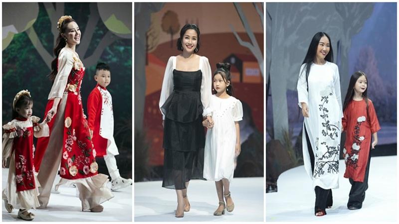Loạt nhóc tì siêu đáng yêu của Hà Kiều Anh, Đoan Trang, Vy Oanh tỏa sáng trên sàn catwalk