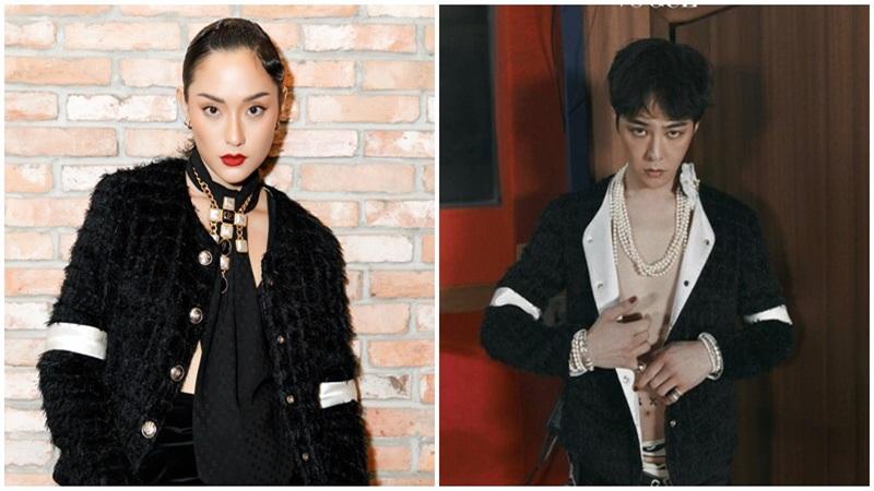 Thu Anh The Face cực ngầu khi đụng hàng áo Chanel với G-Dragon