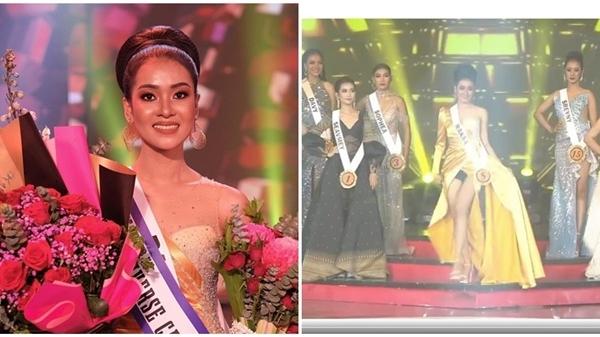 Á hậu 1 Hoa hậu Hoàn vũ Campuchia 'lộ hàng' ngay trên sóng truyền hình
