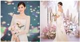 3 mẫu đầm cưới đơn giản nhưng cực 'chanh sả'của Á hậu Tường San