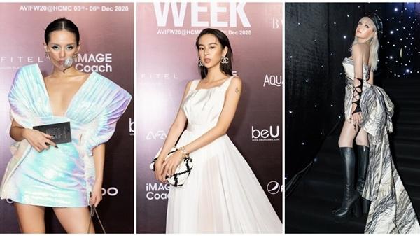 Thảm đỏ Tuần lễ thời trang: 'Cô em Trendy' đeo khẩu trang vẫn xinh, dàn Hoa-Á hậu diện đồ 'khét lẹt'