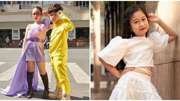 'Binh đoàn' mẫu nhí tạo dáng cực chuyên nghiệp khoe streetstyle bên lề Tuần lễ thời trang quốc tế Việt Nam 2020