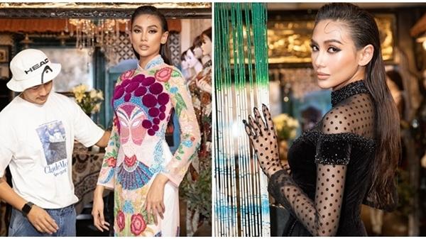 Võ Hoàng Yến diện áo dài xuyên thấu vẫn đẹp nền nã, chuẩn bị show diễn của NTK Bảo Bảo