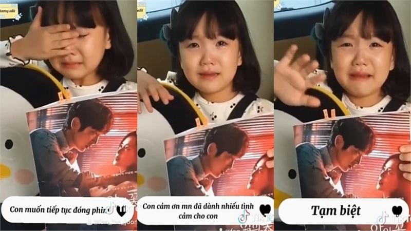 Bé Eun Ha khóc mếu cực đáng yêu vì không còn được làm con gái 'bố' Lee Jun Ki trong 'Flower of Evil'