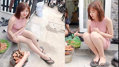 Chỉ vì một bức ảnh ngồi nướng thịt trước cửa, cô gái khiến dân mạng đổ xô truy tìm vì dễ thương