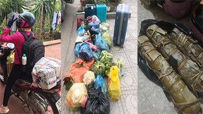 Dân tình rần rần khoe hành trang sau Tết: 'Vác cả quê hương' lên thành phố, bánh chưng bánh tét không thể thiếu