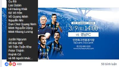 Fan Việt 'làm loạn' trên fanpage của Incheon United, khiến NHM Hàn Quốc thất vọng