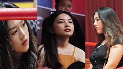 Những fan girl xinh đẹp trên khán đài NTĐ Tây Hồ trong trận đối đầu giữa Thang Long Warriors và Cantho Catfish